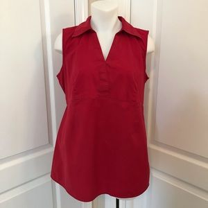 DUO MATERNITY Red Sleeveless Top M